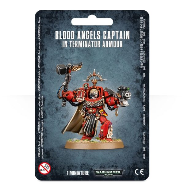 Capitan Exterminador Angeles Sangrientos Space Marines Espaciales Warhammer 40k Blood Angels Captain