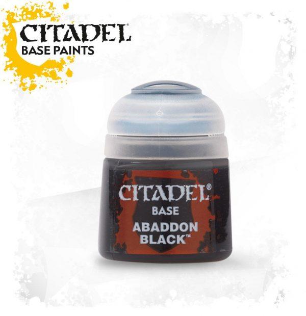 Pintura Negro Citadel Base Abaddon Black