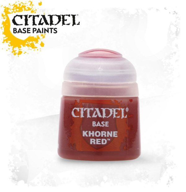 Pintura Rojo Oscuro Citadel Base Khorne Red