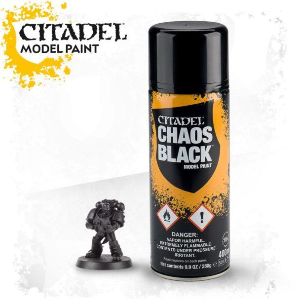 Pintura Imprimacion Negra Citadel Chaos Black Spray
