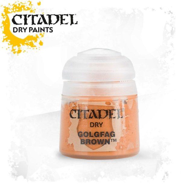 Pintura Pincel Seco Naranja Citadel Dry Golgfag Brown