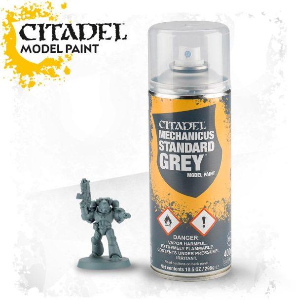 Pintura Imprimacion Gris Citadel Mechanicus Standard Grey Spray