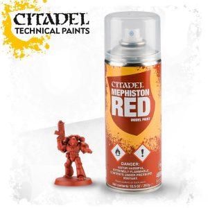 Pintura Imprimacion Roja Citadel Mephiston Red Spray