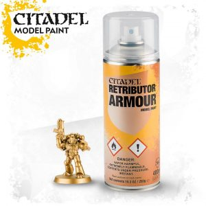 Pintura Imprimacion Dorada Citadel Retributor Armour Spray