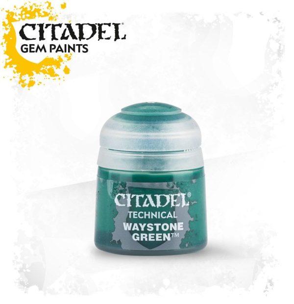 Pintura Gema Vitrificado Veladura Citadel Technical Waystone Green