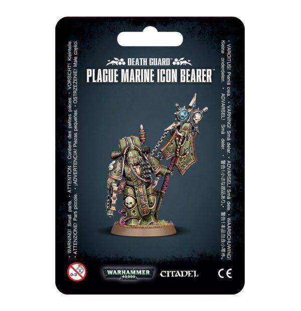 Plagosos Barriguitas Guardia Muerte Death Guard Nurgle Chaos Space Marines Espaciales Caos Warhammer 40k Plague Marine Icon Bearer