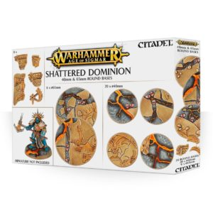 Bases Warhammer Sigmar Peanas Shattered Dominion 40 65 mm