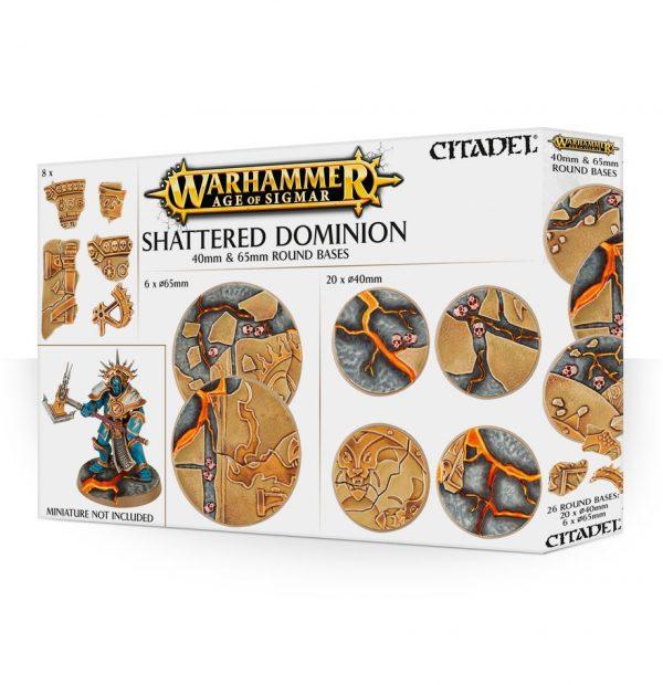 Bases Warhammer Sigmar Peanas Shattered Dominion 40 65 mm