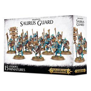 Lagartos Guardia Templo Seraphon Warhammer Sigmar Orden Saurus Guard