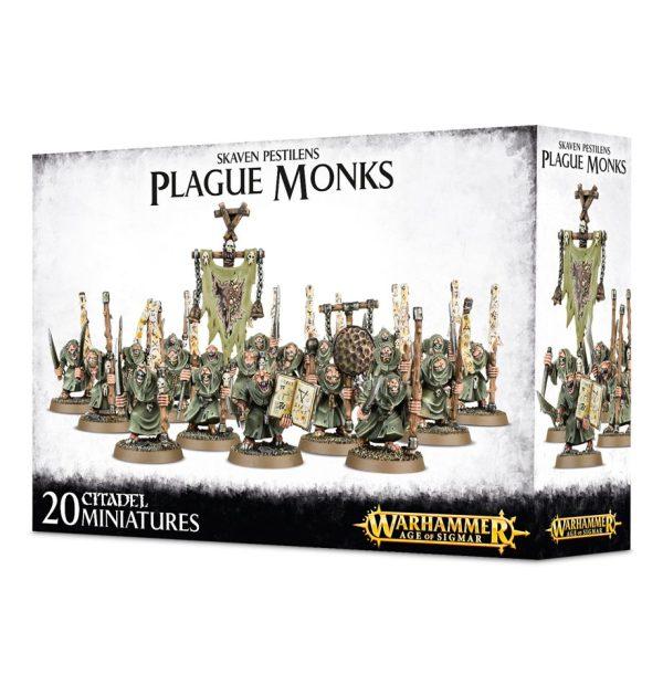 Monjes Plaga Ratas Skaven Pestilens Warhammer Sigmar Caos Plague Monks